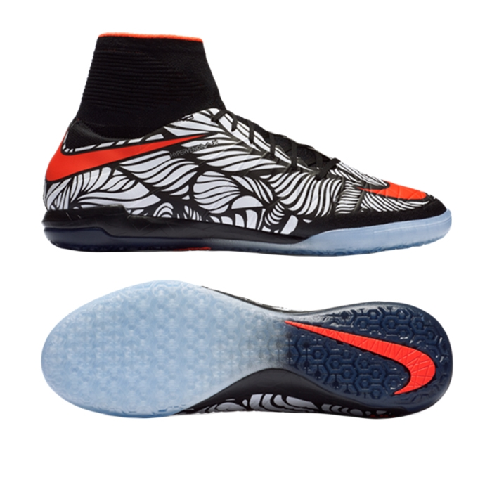 Nike Neymar HypervenomX Proximo IC Indoor Soccer Shoes (Black/White/Bright  Crimson)