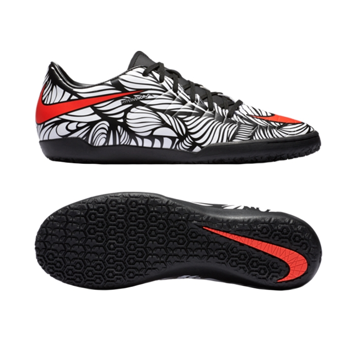 e0fbf73c5be Nike Neymar Hypervenom Phelon II IC Indoor Soccer Shoes (Black White ...