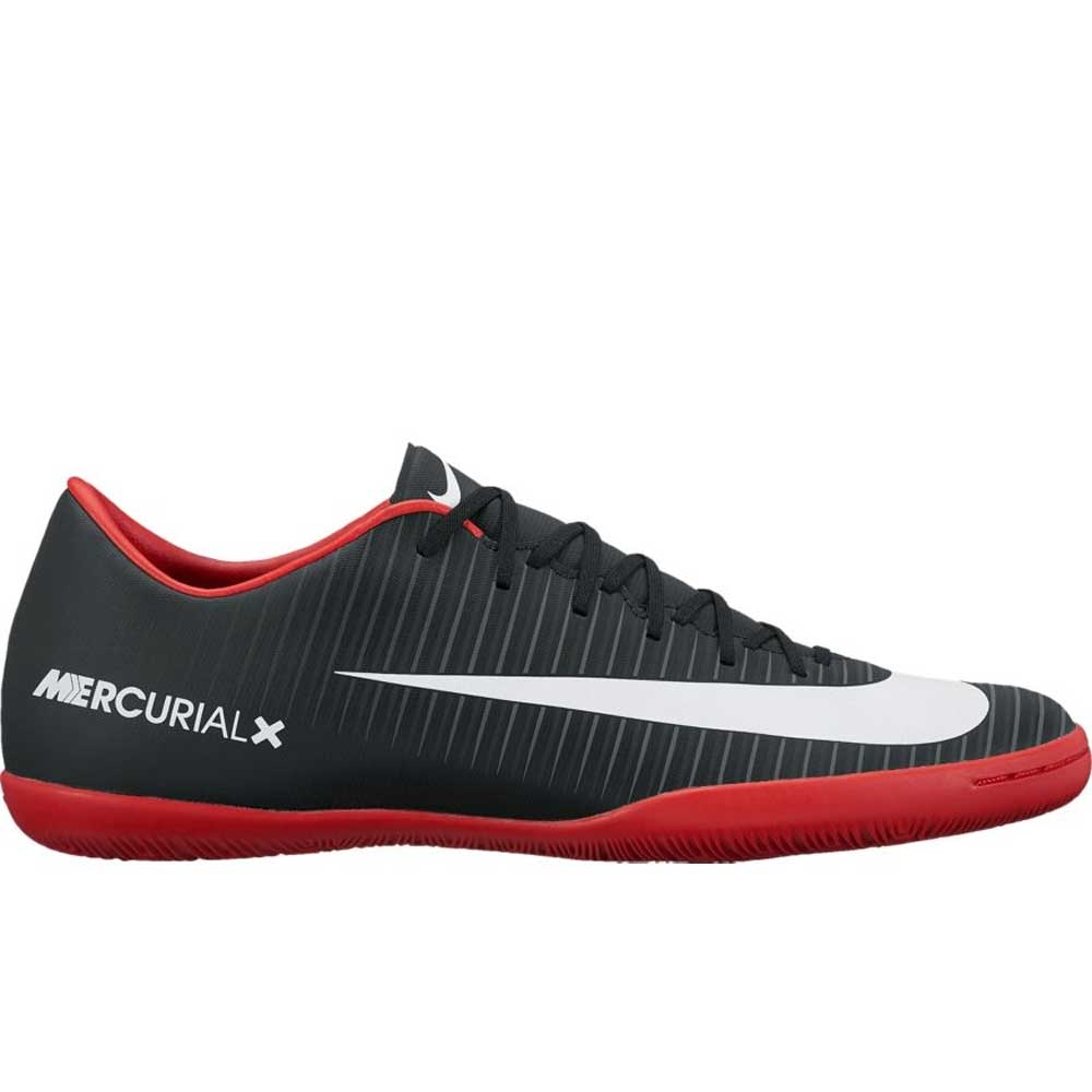 fc8d5eeef Nike Mercurial Victory VI IC Indoor Soccer Shoes (Black White Dark  Grey University Red)