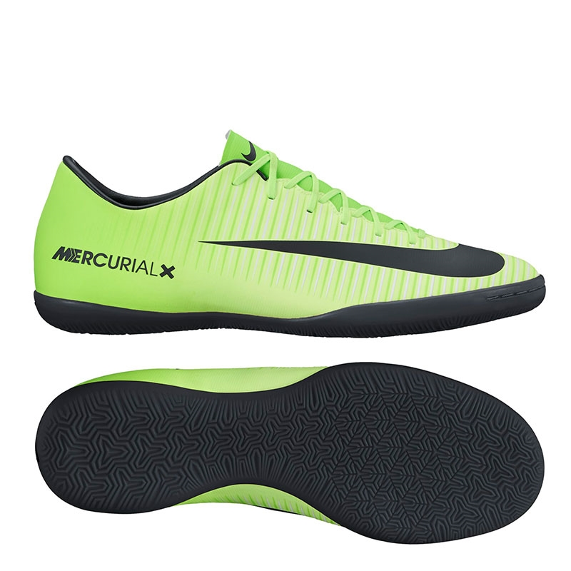 Nike Mercurial Victory VI IC Indoor Soccer Shoes (Electric Green/Black/Flash  Lime