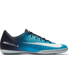 Nike Mercurial Victory VI IC Indoor Soccer Shoes (Obsidian/White/Gamma Blue)