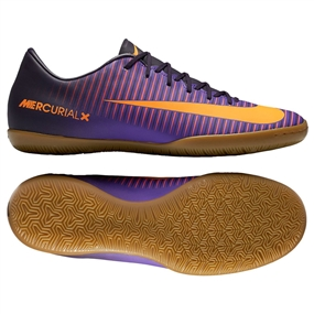 Nike Mercurial Victory VI Indoor Soccer Shoes (Purple Dynasty/Bright Citrus/Hyper Grape)