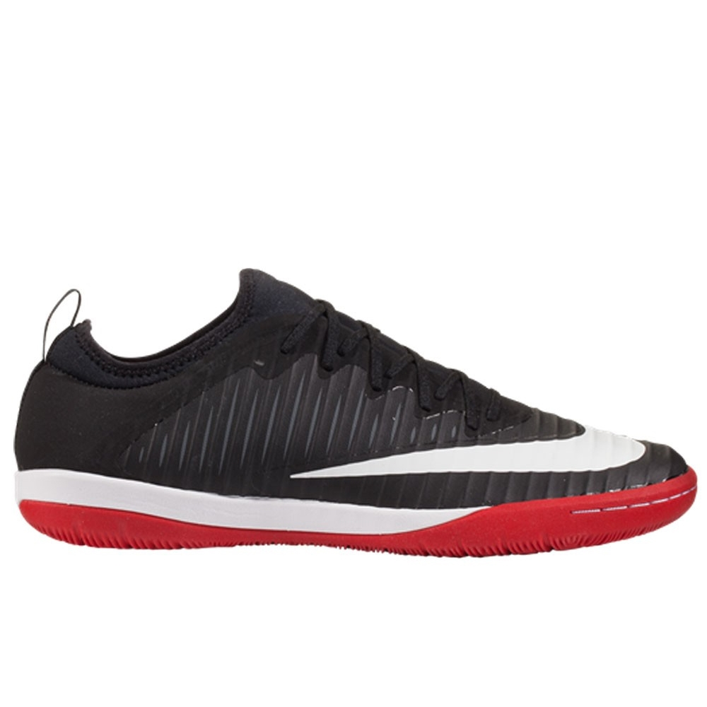 Nike MercurialX Finale II IC Indoor Soccer Shoes (Black White University  Red Cool Grey)  1fa909a3f