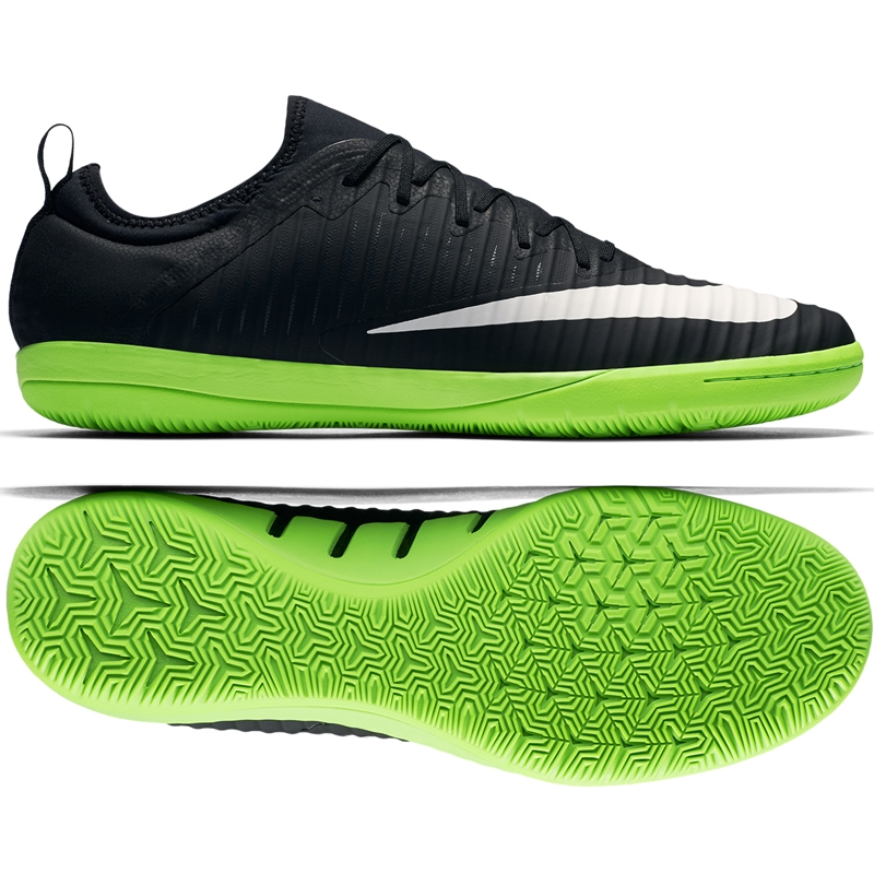 Nike MercurialX Finale II IC Indoor Soccer Shoes BlackWhiteElectric  Green