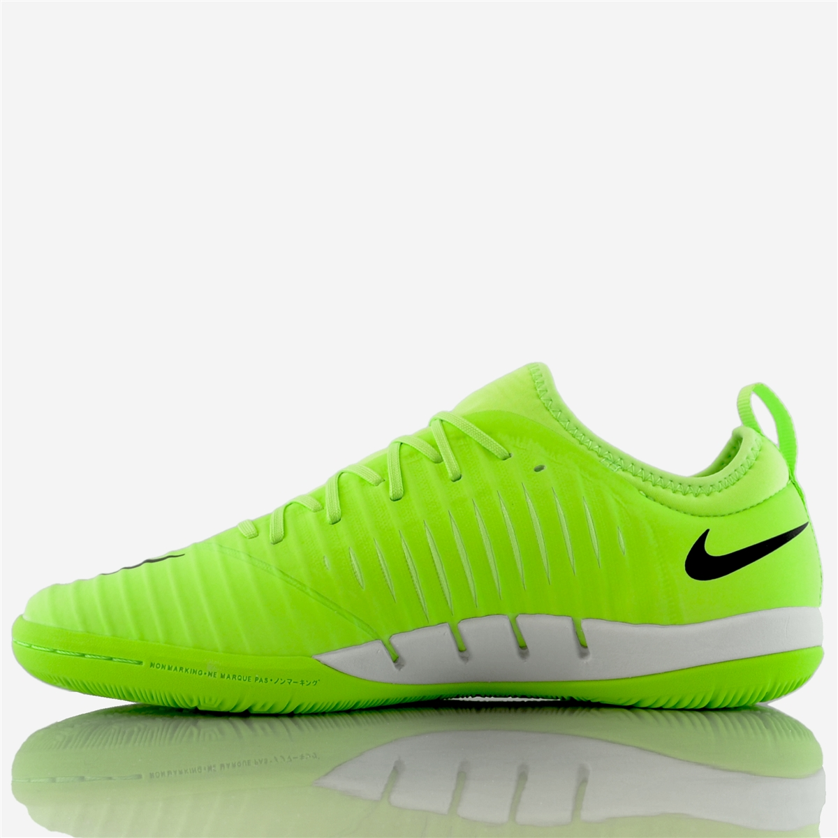 new style acb58 a529b Nike MercurialX Finale II IC Indoor Soccer Shoes (Flash Lime Black White)