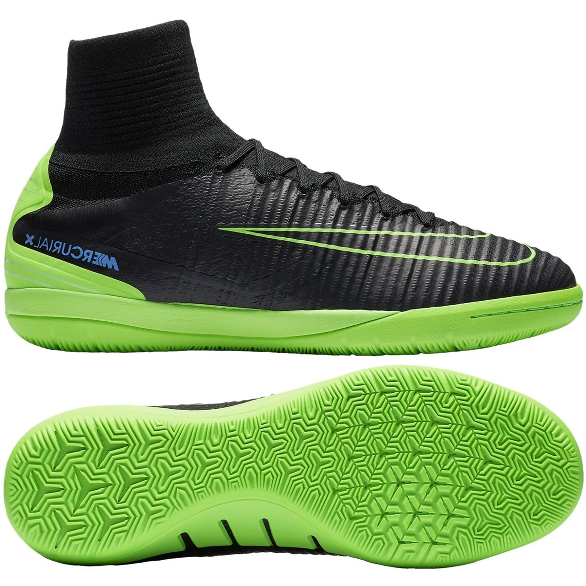 50bc3f156e18 Nike MercurialX Proximo II IC Indoor Soccer Shoes (Black/Electric  Green/Paramount Blue) | Nike Indoor Soccer Shoes | Nike SCCRX | Nike  FootballX ...