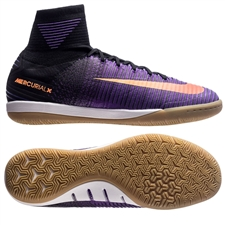 Nike MercurialX Proximo II IC Indoor Soccer Shoes (Black/Total Crimson/Hyper Grape)
