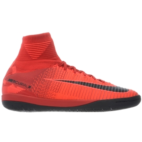 Nike MercurialX Proximo II DF IC Indoor Soccer Shoes (University Red/Black/Bright Crimson)