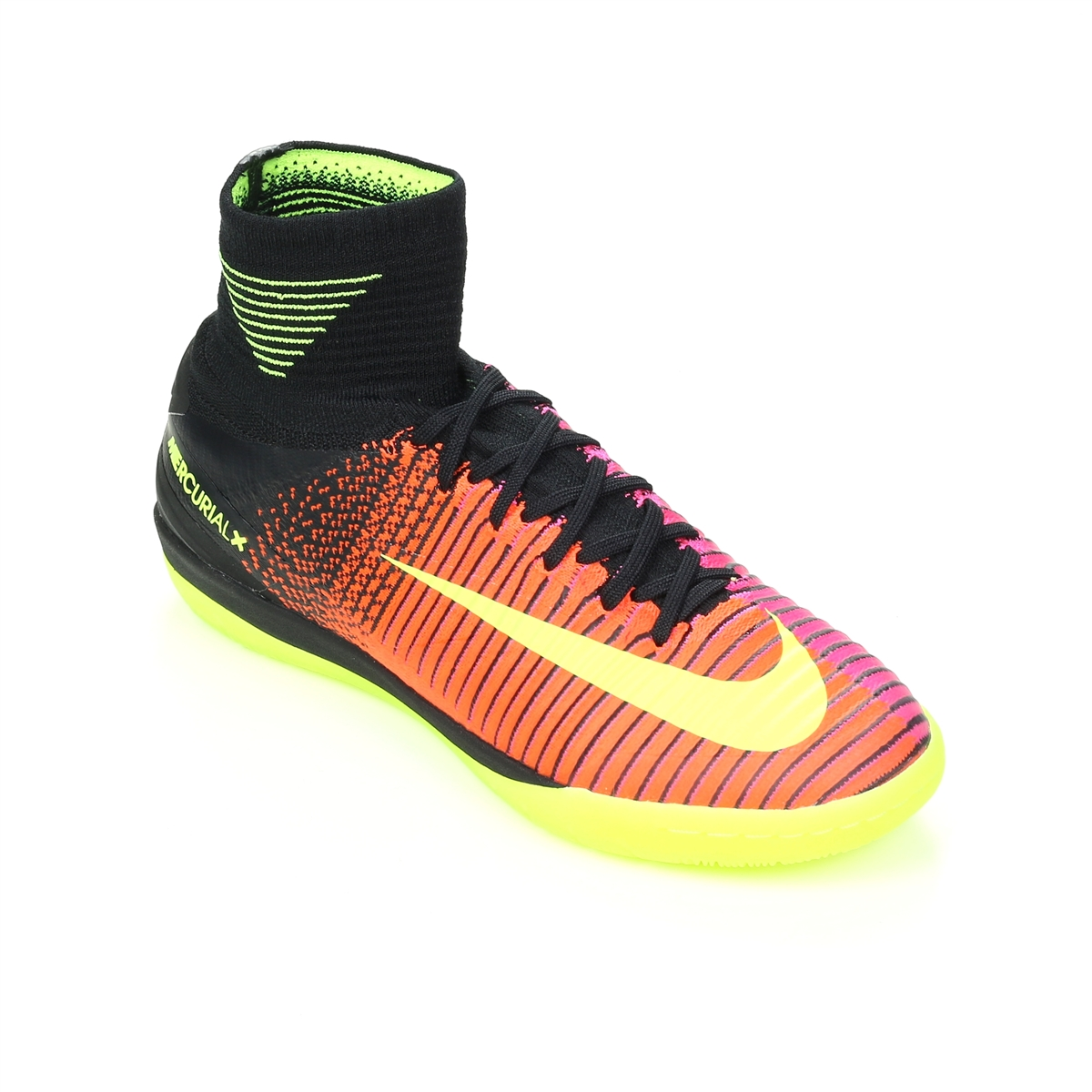 bde237b83767 Nike MercurialX Proximo II Street IC Indoor Soccer Shoes (Total Crimson  Volt Black Pink ...