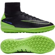 Nike MercurialX Proximo II TF Turf Soccer Shoes (Black/Electric Green/Paramount Blue)