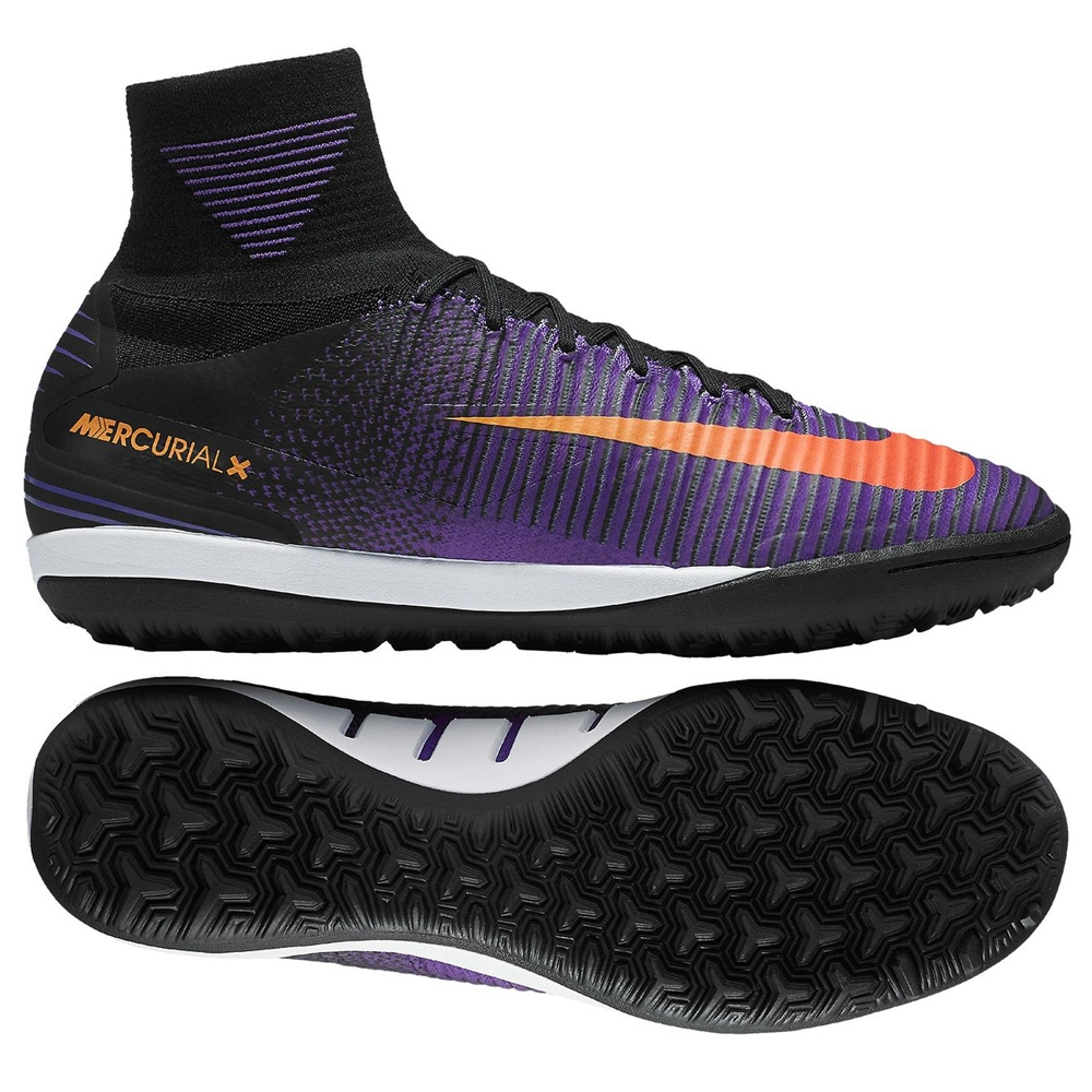 Nike MercurialX Proximo II TF Turf Soccer Shoes Black Total Crimson Hyper  Grape