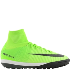 Nike MercurialX Proximo II DF TF Turf Soccer Shoes (Electric Green/Black/Ghost Green)