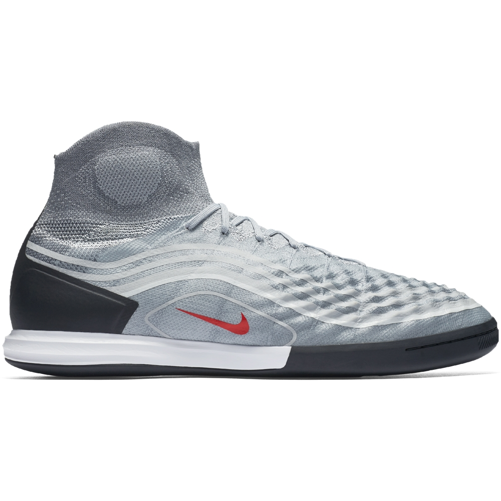 184860aece01 Nike MagistaX Proximo II DF IC Indoor Soccer Shoes (Cool Grey Varsity Red  Black Wolf Grey)
