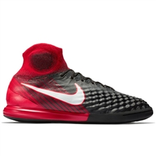 Nike MagistaX Proximo II DF IC Indoor Soccer Shoes (Black/White/University Red)