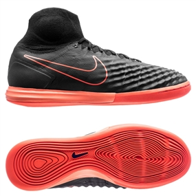 Nike MagistaX Proximo II IC Indoor Soccer Shoes (Black/Hyper Orange/Paramount Blue)