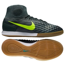 Nike MagistaX Proximo II IC Indoor Soccer Shoes (Seaweed/Volt/Hasta/Mica Green)