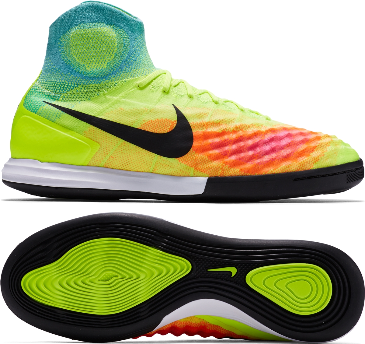 Nike MagistaX Proximo II IC Indoor Soccer Shoes (Volt/Black/Hyper  Turquoise/ ...