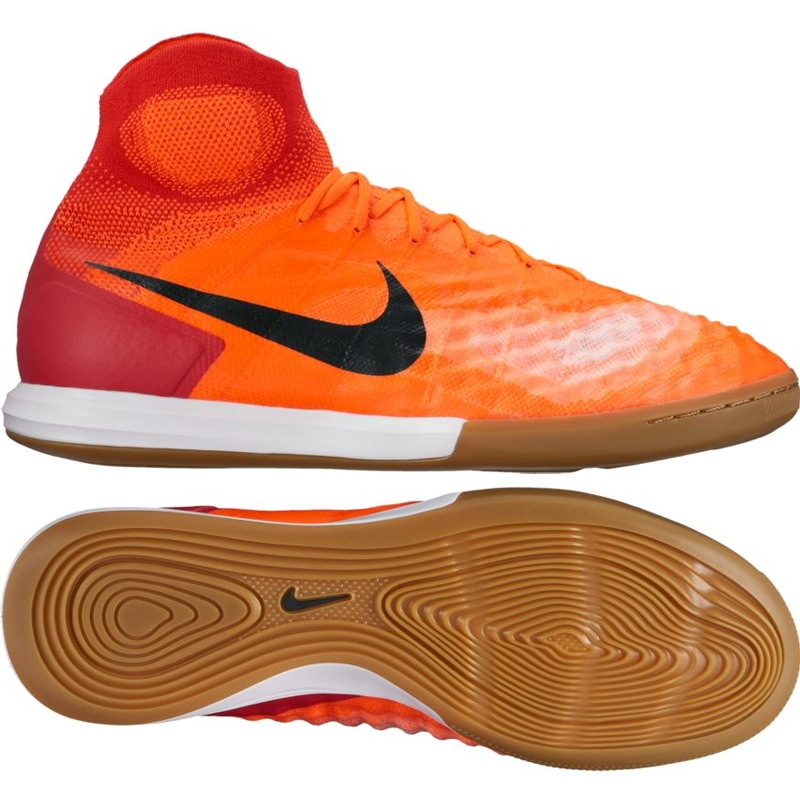 21458e150c1b Nike MagistaX Proximo II DF IC Indoor Soccer Shoes (Total  Crimson Black University Red)