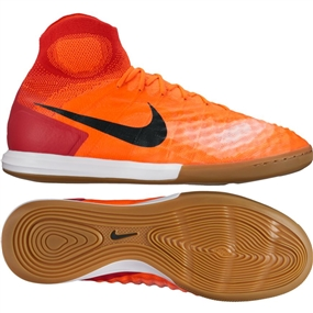 Nike MagistaX Proximo II DF IC Indoor Soccer Shoes (Total Crimson/Black/University Red)