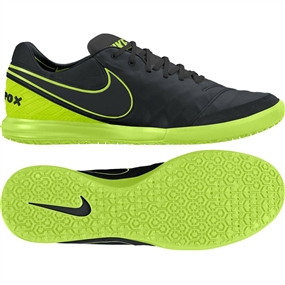Nike TiempoX Proximo IC Indoor Soccer Shoes (Black/Volt/Black)