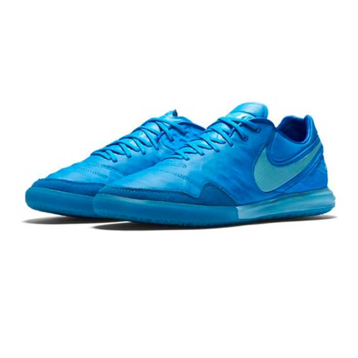 Nike TiempoX Proximo IC Indoor Soccer Shoes (Blue Glow Polarized Blue Soar) 47d0f4a2d
