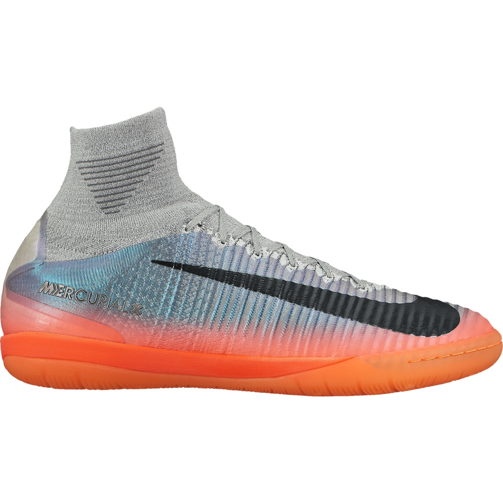 Nike MercurialX Proximo II CR7 IC Indoor Soccer Shoes (Cool Grey/Metallic  Hematite/