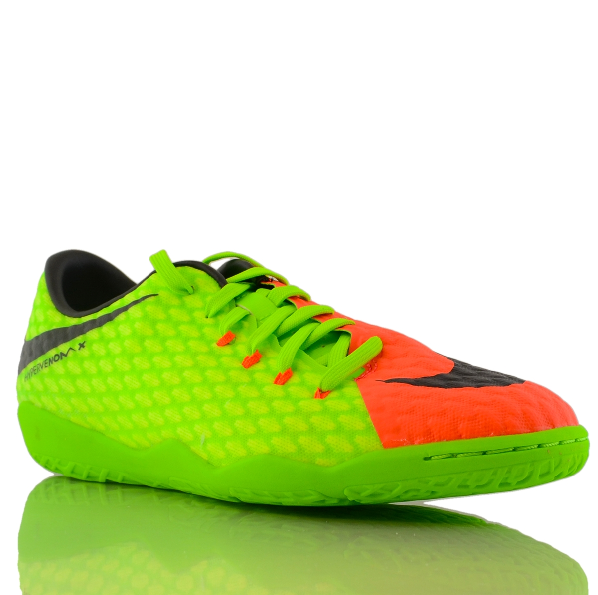 dbff2633081 Nike HypervenomX Phelon III IC Indoor Soccer Shoes (Electric Green Black Hyper  Orange Volt)