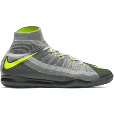 Nike HypervenomX Proximo II DF IC Indoor Soccer Shoes (Black/Volt/Dark Grey/Wolf Grey)