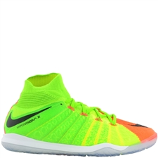 Nike HypervenomX Proximo II DF IC Indoor Soccer Shoes (Electric Green/Black/Hyper Orange/Volt)