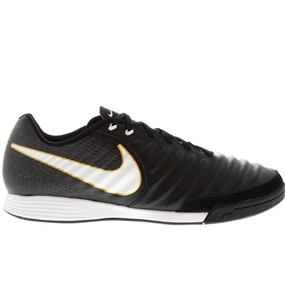 Nike TiempoX Ligera IV IC Indoor Soccer Shoes (Black/White)