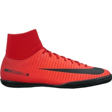 Nike MercurialX Victory VI DF IC Indoor Soccer Shoes (University Red/Black/Bright Crimson)