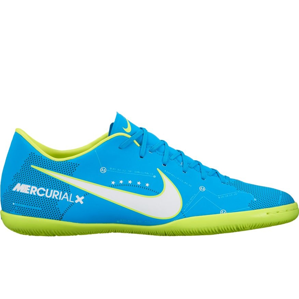 Nike MercurialX Victory VI IC Neymar Indoor Soccer Shoes (Blue  Orbit White Armory Navy)  87e92d0175