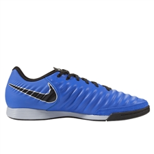 Nike LegendX 7 Academy IC Indoor Soccer Shoes (Racer Blue/Black/Metallic Silver)