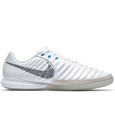 Nike Lunar LegendX VII Pro IC Indoor Soccer Shoes (White/Metallic Cool Grey/Blue Hero)