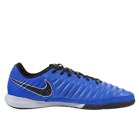 Nike Lunar LegendX 7 Pro IC Indoor Soccer Shoes (Racer Blue/Black/Metallic Silver)