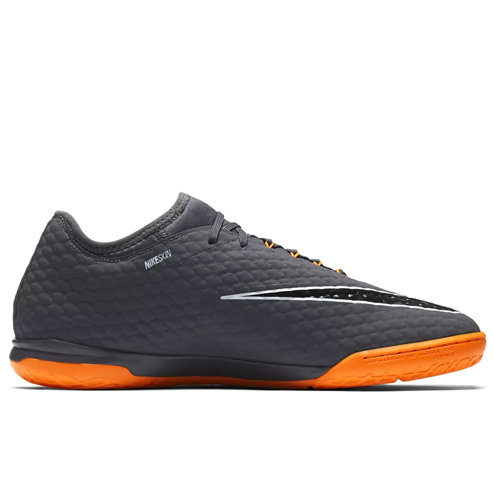 the cheapest special sales sneakers Nike Hypervenom PhantomX III Pro IC Indoor Soccer Shoes (Dark Grey/Total  Orange/White)