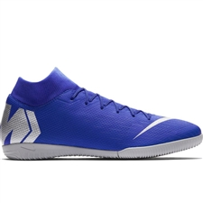Nike SuperflyX 6 Academy IC Indoor Soccer Shoes (Racer Blue/Metallic Silver/Black/Volt)