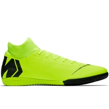 Nike SuperflyX 6 Academy IC Indoor Soccer Shoes (Volt/Black)