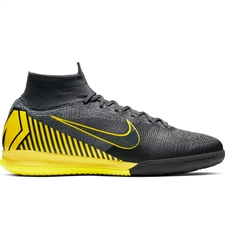 Nike SuperflyX 6 Elite IC Indoor Soccer Shoes (Thunder Grey/Black/Dark Grey)
