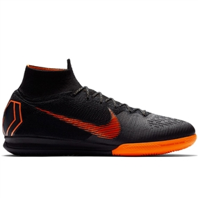 Nike SuperflyX VI Elite IC Indoor Soccer Shoes (Black/Total Orange/White)