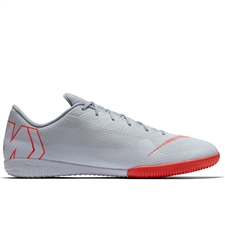 Nike VaporX XII Academy IC Indoor Soccer Shoes (Wolf Grey/Light Crimson/Pure Platinum)