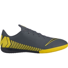 Nike VaporX 12 Academy IC Indoor Soccer Shoes (Dark Grey/Black/Opti Yellow)