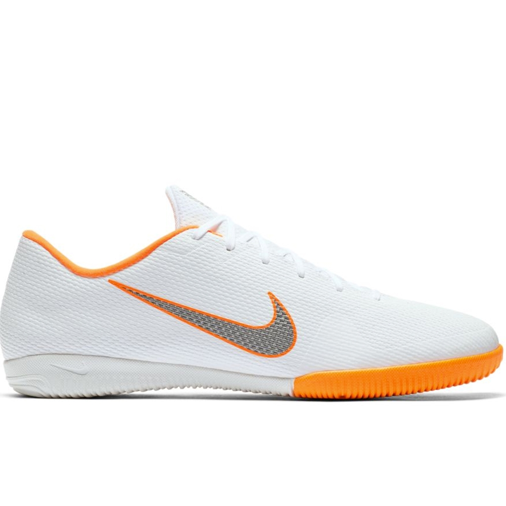 sale retailer 5c933 e4a15 Nike VaporX XII Academy IC Indoor Soccer Shoes (White/Metallic Cool  Grey/Total Orange)