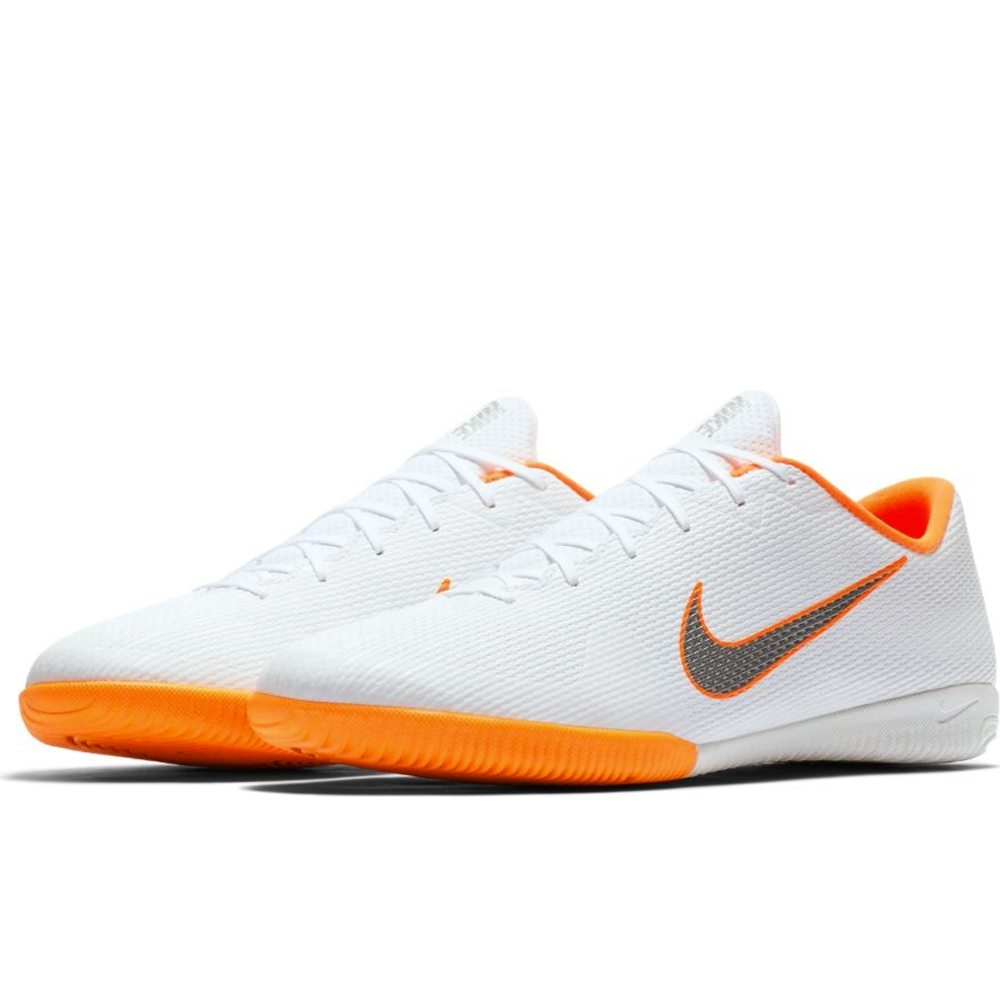 a53f3182acb Nike VaporX XII Academy IC Indoor Soccer Shoes (White Metallic Cool ...