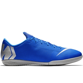 Nike VaporX 12 Academy IC Indoor Soccer Shoes (Racer Blue/Metallic Silver/Black/Volt)