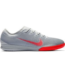 Nike VaporX XII Pro IC Indoor Soccer Shoes (Wolf Grey/Light Crimson/Pure Platinum)