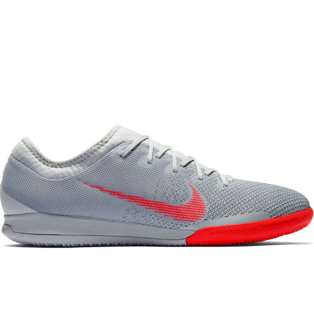 huge discount 08303 f7f8a Nike VaporX XII Pro IC Indoor Soccer Shoes (Wolf Grey/Light Crimson/Pure  Platinum)