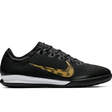 Nike VaporX 12 Pro IC Indoor Soccer Shoes (Black/Metallic Vivid Gold/White)
