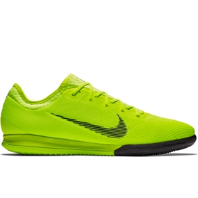 Nike VaporX 12 Pro IC Indoor Soccer Shoes (Volt/Black)