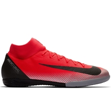 Nike SuperflyX VI Academy CR7 IC Indoor Soccer Shoes (Bright Crimson/Black/Chrome/Dark Grey)